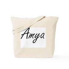 Amya artistic Name Design Tote Bag