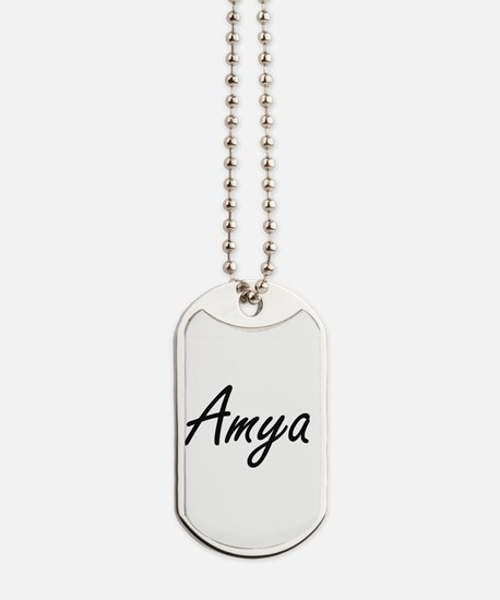 Amya artistic Name Design Dog Tags