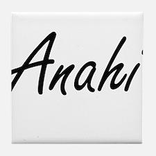 Anahi artistic Name Design Tile Coaster