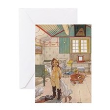 Little girls room Greeting Cards
