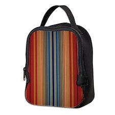 Masculine Rusty striped Neoprene Lunch Bag