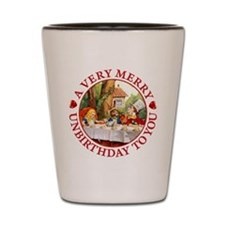 A Very Merry Unbirthday To You Shot Glass