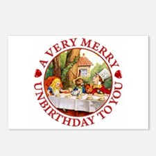 A Very Merry Unbirthday T Postcards (Package of 8)