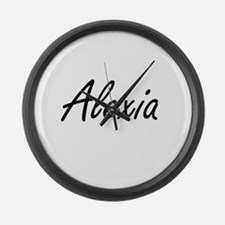 Alexia artistic Name Design Large Wall Clock