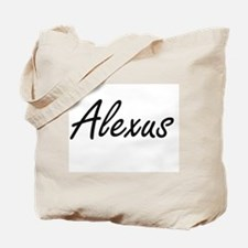 Alexus artistic Name Design Tote Bag