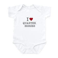 I Heart Quarter Horses Infant Creeper
