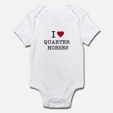 I Heart Quarter Horses Infant Creeper