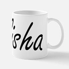 Alisha artistic Name Design Mug
