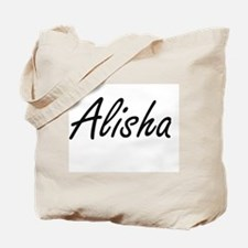 Alisha artistic Name Design Tote Bag