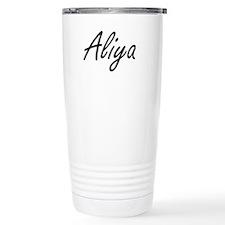 Aliya artistic Name Des Travel Mug