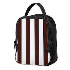 Dark Brown Stripes Neoprene Lunch Bag