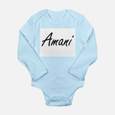 Amani artistic Name Design Body Suit