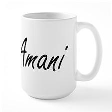 Amani artistic Name Design Mugs