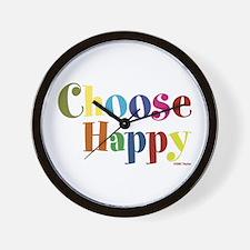 Choose Happy 01 Wall Clock