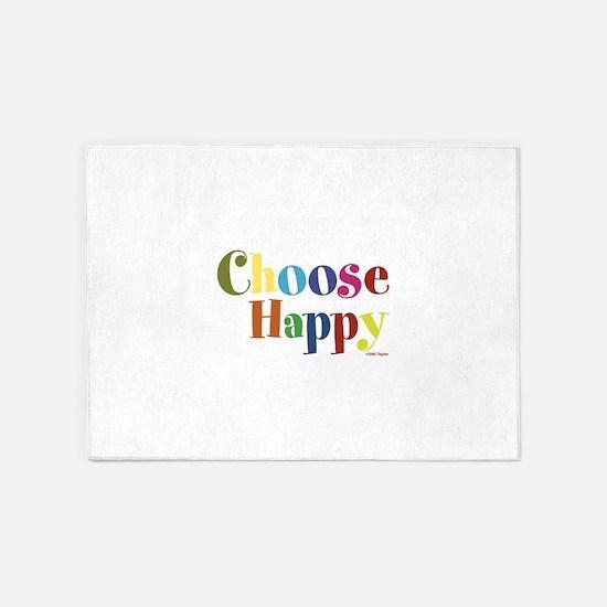 Choose Happy 01 5'x7'Area Rug