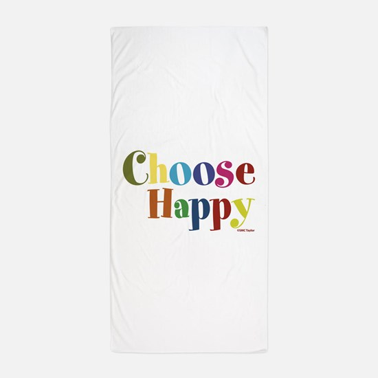 Choose Happy 01 Beach Towel