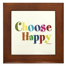 Choose Happy 01 Framed Tile