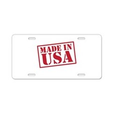 Made In USA-02-01 Aluminum License Plate