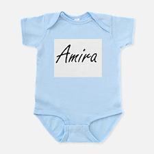 Amira artistic Name Design Body Suit