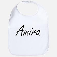 Amira artistic Name Design Bib