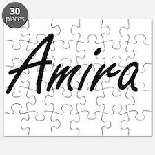 Amira artistic Name Design Puzzle