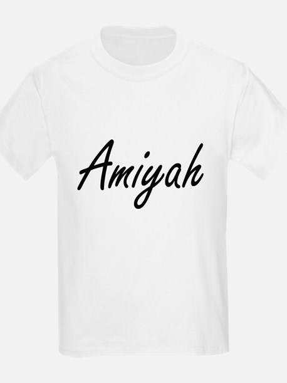 Amiyah artistic Name Design T-Shirt