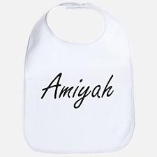 Amiyah artistic Name Design Bib