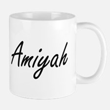Amiyah artistic Name Design Mugs