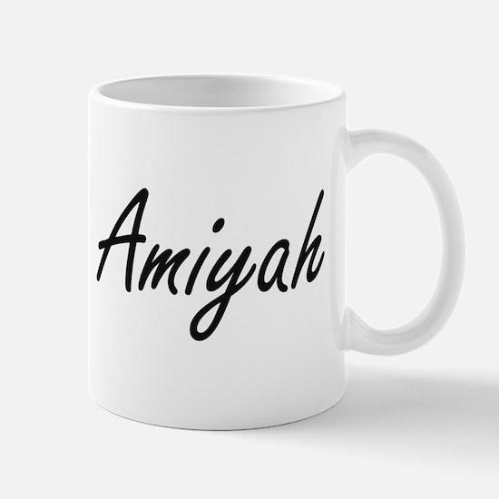 Amiyah artistic Name Design Mugs