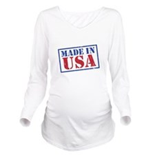 Made In USA-02-01 Long Sleeve Maternity T-Shirt
