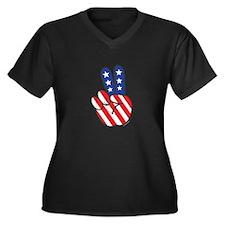 Peace USA Flag-01 Plus Size T-Shirt
