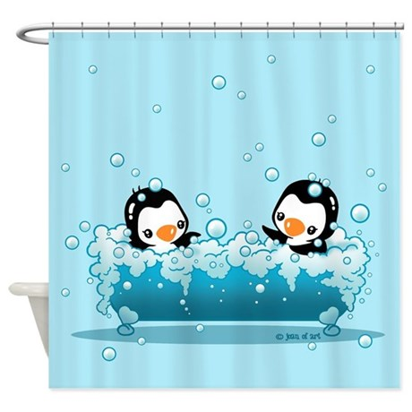 Cute Penguins Shower Curtain By Admin CP6710670