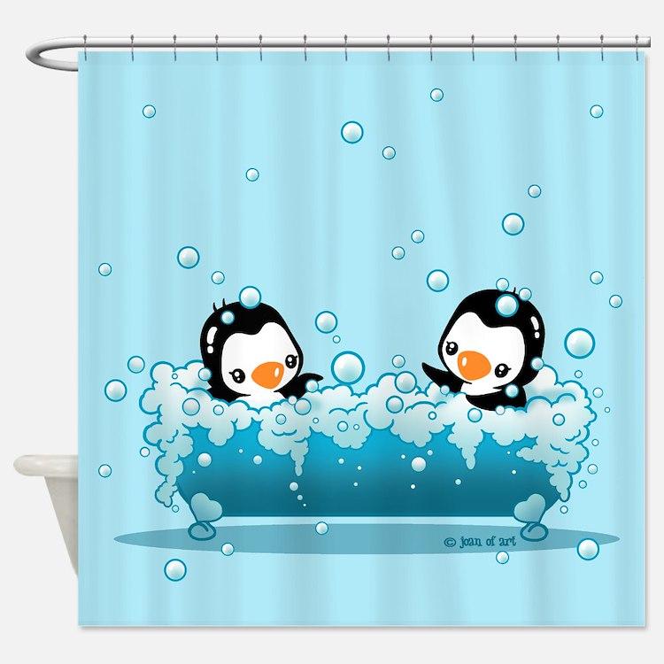 Cute Penguins Shower Curtain