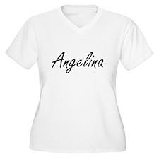 Angelina artistic Name Design Plus Size T-Shirt