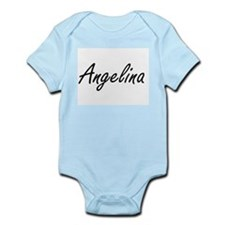 Angelina artistic Name Design Body Suit