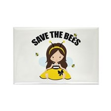Save the Bees Rectangle Magnet (100 pack)