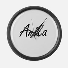 Anika artistic Name Design Large Wall Clock