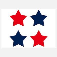 Patriotic Red and Blue Stars Invitations