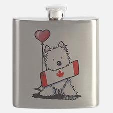 Canadian KiniArt Westie Fan Flask