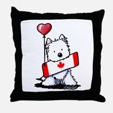 Canadian KiniArt Westie Fan Throw Pillow