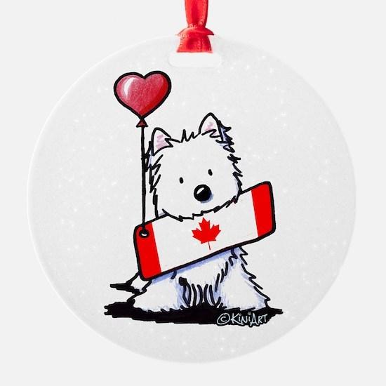 Canadian KiniArt Westie Fan Ornament