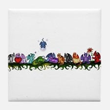 many cute Dragons Tile Coaster
