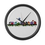 many cute Dragons Large Wall Clock
