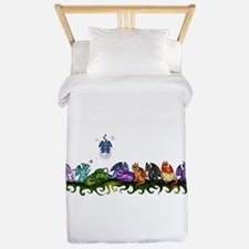 many cute Dragons Twin Duvet