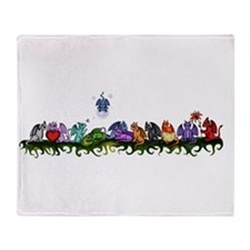 many cute Dragons Throw Blanket