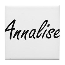 Annalise artistic Name Design Tile Coaster