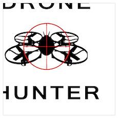 Drone Hunter Black Poster