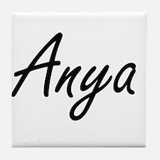 Anya artistic Name Design Tile Coaster