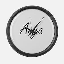 Anya artistic Name Design Large Wall Clock