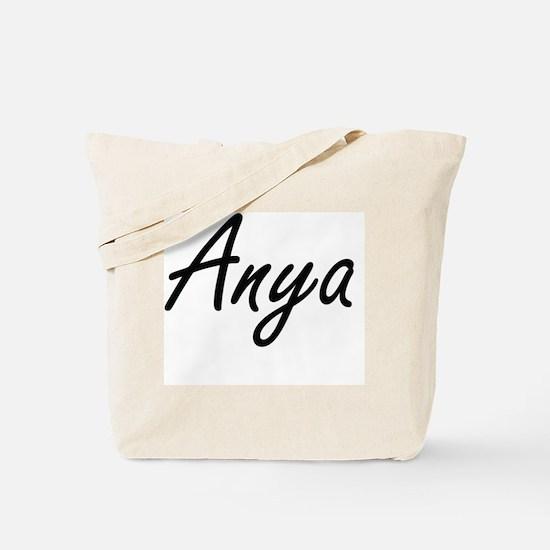 Anya artistic Name Design Tote Bag